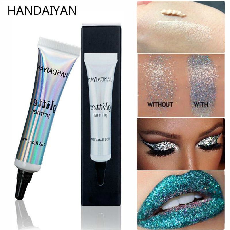 Long Lasting Glitter Primer Glue Pre-makeup Cream For Eyeshadow Eye Makeup Base And Lip Make Up Sequins Fixed Foundation Primer