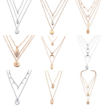 Layered Necklaces and Pendant