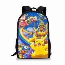 1669e2dbdfb1 Anime Pokemon Backpack Boys Girls School Bags Children Pikachu Backpack For  Teenagers Kids Gift Backpacks Schoolbags Mochila