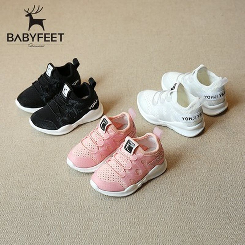 Babyfeet spring and autumn children's sports shoes girl sneakers boy casual shoes breathable 1-3 year old Toddler sneakers 21-25 babyfeet summer cool toddler shoes 0 2 year old newborn baby girl