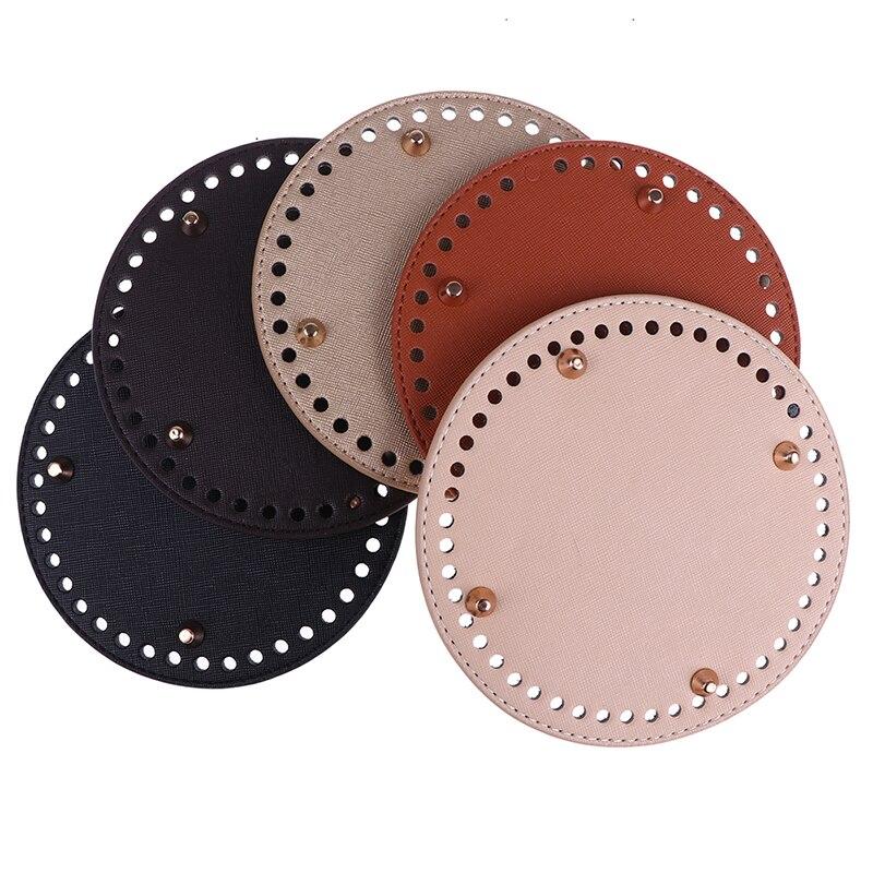 PU Leather 60 Holes Replacement Bottom For Shoulder Bag Handbag Backpack Bucket Bag Knitting Bag Women Bags Handmade Accessories