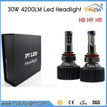 Free Shipping Gen 7 30W 3600LM 6000K H8 H9 H11 LED Car Headlights Car LED Headlight  H8 H9 H11 LED Headlight  Kit