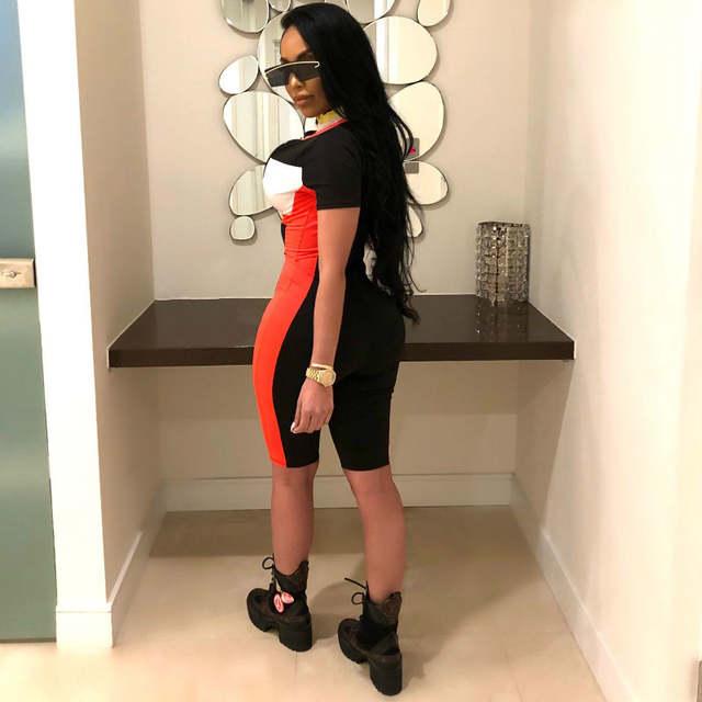 09a599a11aaf placeholder BOOFEENAA Sexy Romper Women Bodycon Jumpsuit Summer 2019  Patchwork Zipper Playsuit Motor Sport Overalls Streetwear C52