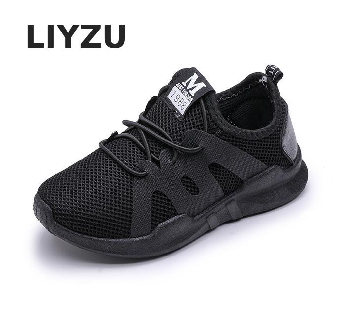 Kids Shoes For Boys Girl Children Casual Sneaker Air Mesh Soft Running Sports Shoe Black Red Trainers Kids Sneakers Child Enfant