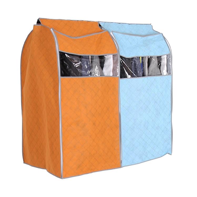 buy clothing hanging garment suit coat dust cover wardrobe bamboo fiber storage. Black Bedroom Furniture Sets. Home Design Ideas