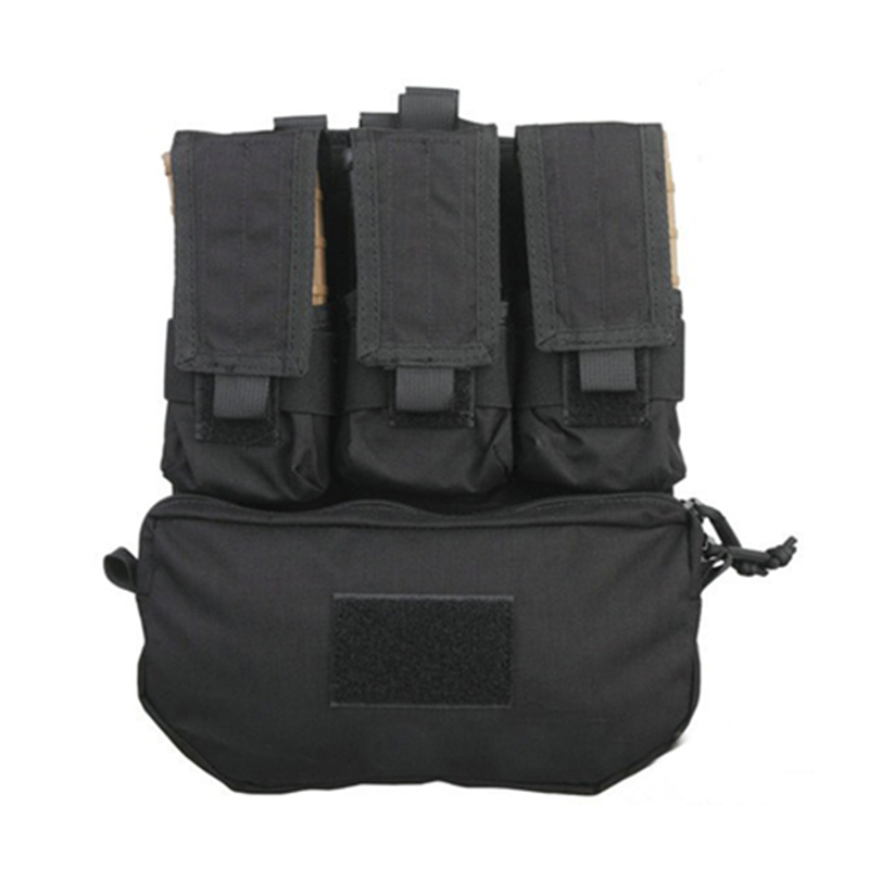 AirsoftSports Pouches Assault Back Panel Pack 500D Cordura Coyote Brown Military MOLLE Pack FOR Outdoor Hunting or Airsoft Vests
