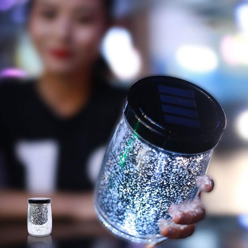 1X New Romantic Solar Led Night light Sky Full Of Stars Creative Solar Sun Jar Bottle Magic jar Creative Gifts Christmas Lights зенитный прожектор night sun sf011 sky rose купить