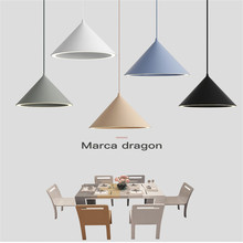 Nordic Creative Macaron Restaurant LED Chandelier Personality Aluminum Aura Color Lamp Simple coffee Shop Lamps Free Shipping