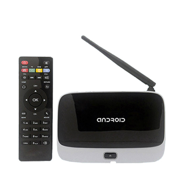 CS918 Android 4.4 Caixa De TV RK3188 2G/8G Quad Core HD XBMC Kodi Totalmente Carregado Antena Wi-fi Com Controle Remoto Inteligente Media Player Q7