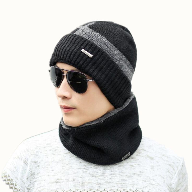 Neck warmer winter hat mask cap Balaclava scarf cap Winter wool Hats For men knitted hat womena   Beanie   Knit Hat   Skullies     Beanies