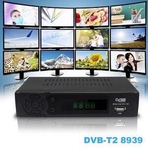 Image 2 - Vmade T2 8939 DVB CAIXA DE TV FULL HD 1080P DVB T Terrestrial Receiver Suporte Lan RJ45 MPEG2/4 H.264 com Dongle WI FI set top box