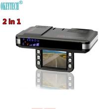 OkeyTech הטוב ביותר נגד 720 P המצלמה DVR רכב גלאי רדאר חדש 2 In 1 מקליט גלאי תנועת גילוי מכונית זרימת תמיכה G חיישן