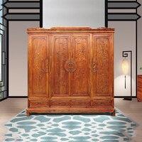 Китайская мода деревянная мебель Античный твердый деревянный шкаф с 4 двери Ежик палисандр мебели большая комната
