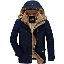 2b1433a10c7 Зимняя парка куртки и пальто для мужчин Толстая теплая ветровка парка для  мужчин с капюшоном воротник