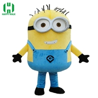 on sale! free shipping,7 styles, Despicable minion mascot costume for adults despicable mascot costume