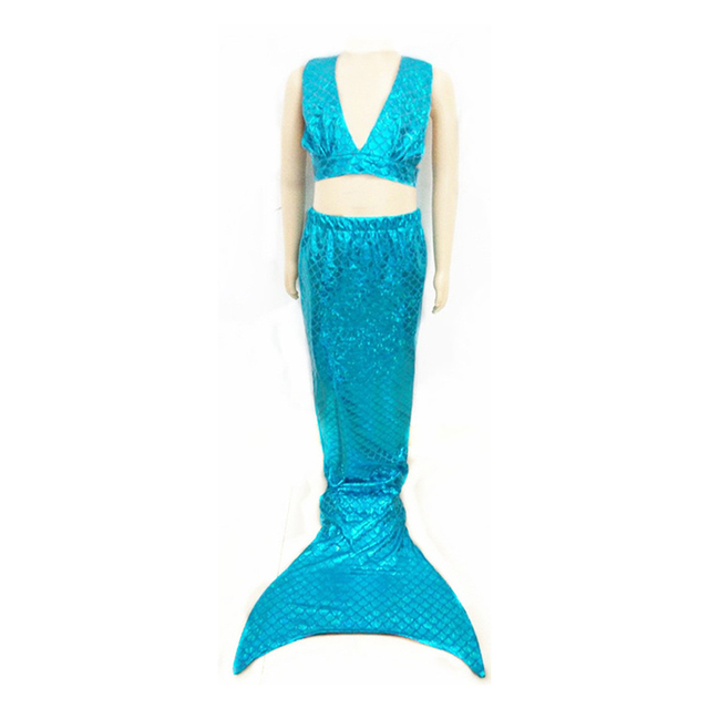 Kids Swimsuit Swimmable Mermaid Tails Swimming Costumes Dress