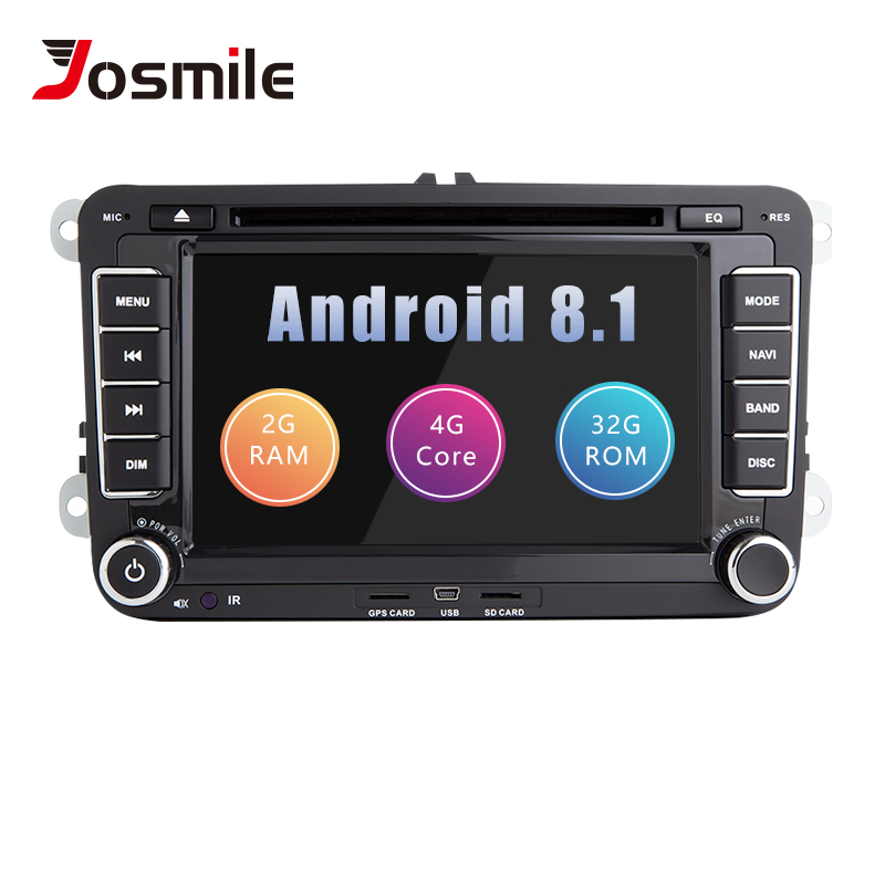 Josmlie AutoRadio 2 din Android 8.1 Car DVD Player For Skoda Octavia 2 Superb <font><b>VW</b></font> Passat B6 Polo T5Seat Leon Golf 5 Amarok <font><b>Touran</b></font> image