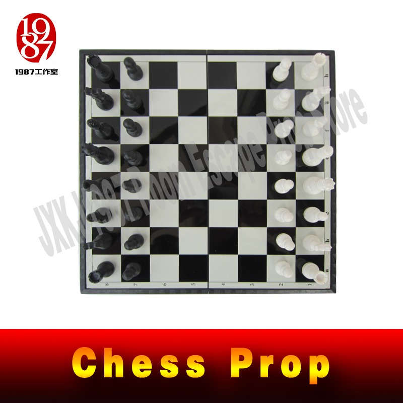 real life escape room Takagism game props chess prop magic prop for escape mysterious room from