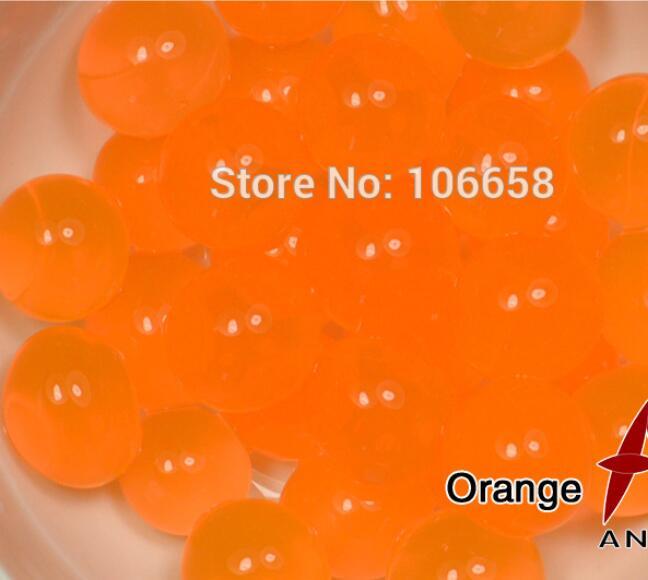 1200 шт почва из гидрогеля прозрачный цветок растения вода питательный Биогель почва семья украшение - Цвет: No 2 Orange