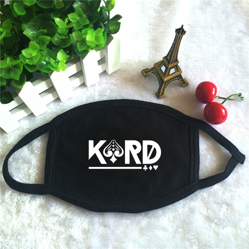 Kpop KARD Oh NaNa Album Don't Recall Logo K.A.R.D Print K-pop Fashion Face Masks Unisex Cotton Black Mouth Mask