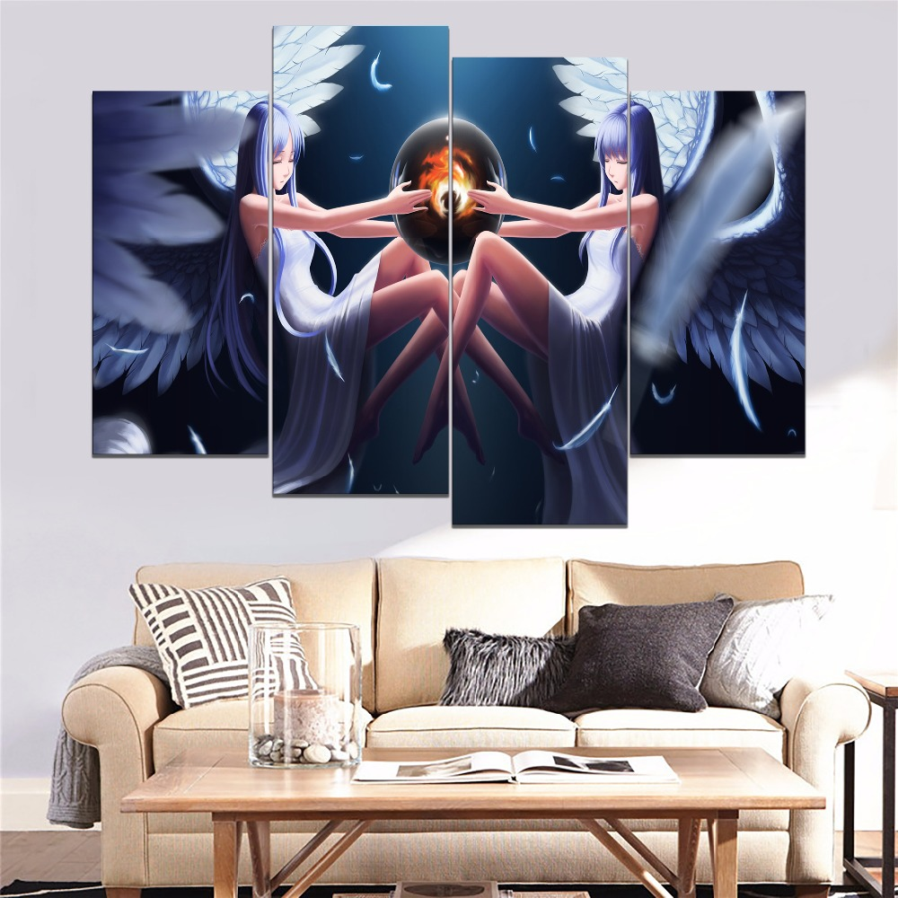 Ys Ancient Ys Vanished Anime Girl Painting 3 Piece Modular Style Picture Canvas Print Type Home Decorative Wall Artwork Poster in Painting Calligraphy from Home Garden