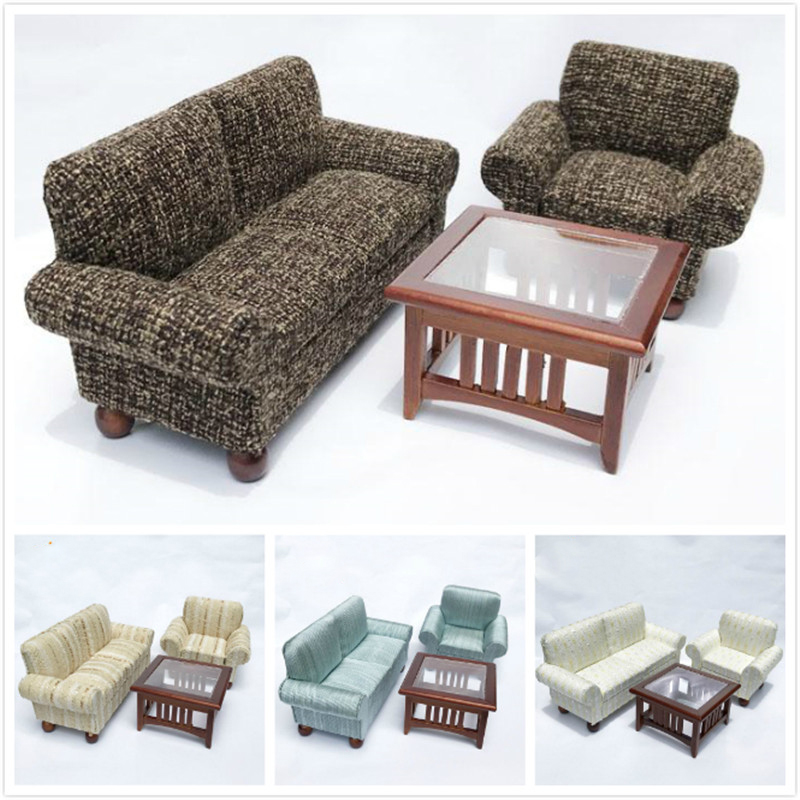 Furniture 1: 1:12 Dollhouse Miniature Sofa For Dolls Furniture Toy