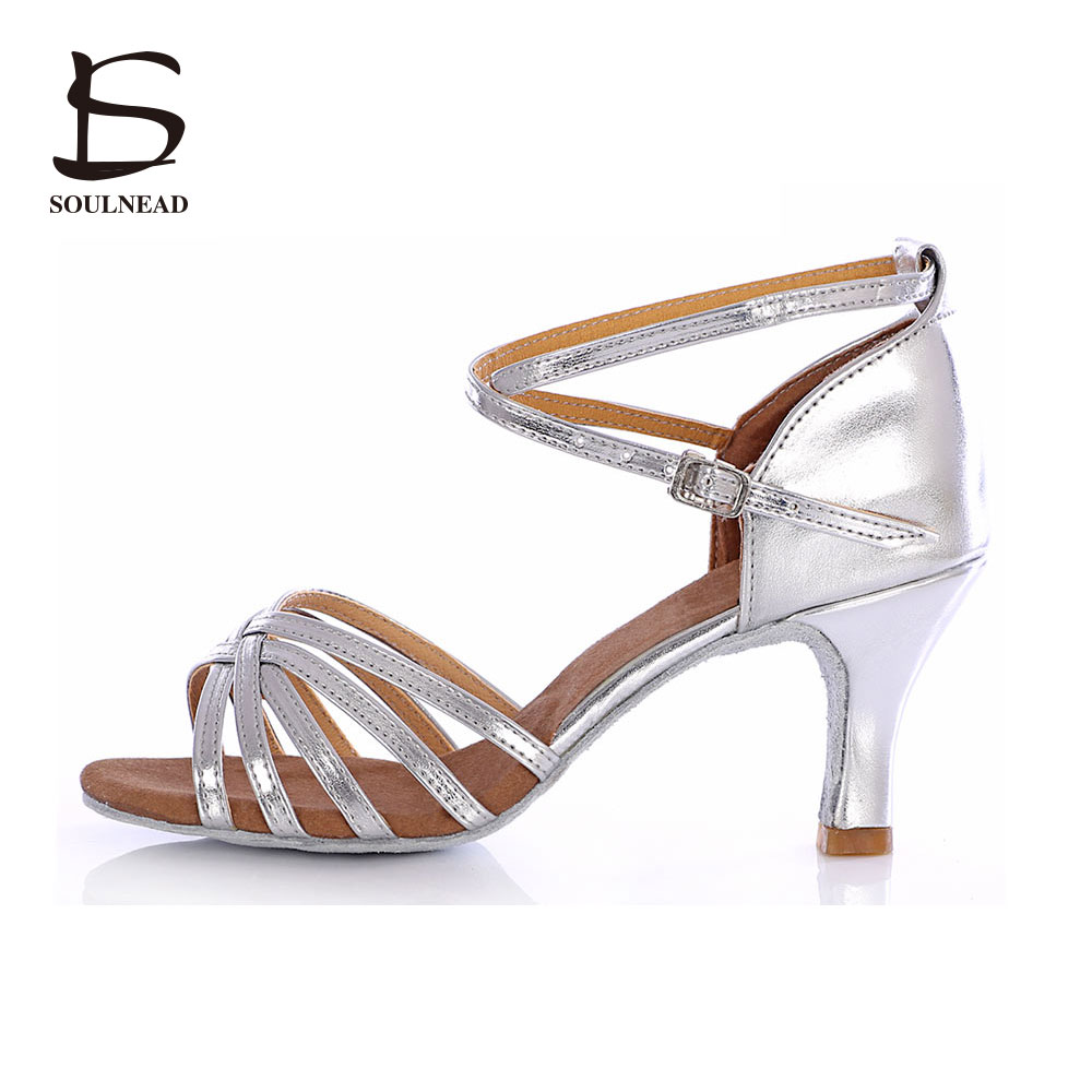 Tango/Latin Dance Shoes Women Wide Soft Heels Dance Shoes Ladies Ballroom Dancing Slipper Zapatos Baile Mujer Dance Shoes Salsa