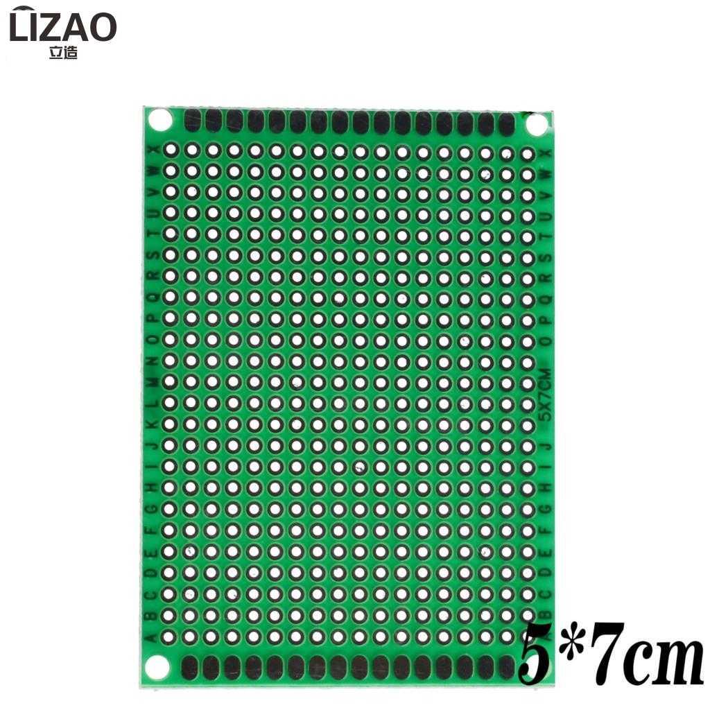 9x15 8x12 7x9 6x8 5x7 4x6 3x7 2x8 cm זוגי צד אב טיפוס Diy אוניברסלי מעגלים מודפסים PCB לוח Protoboard עבור Arduino