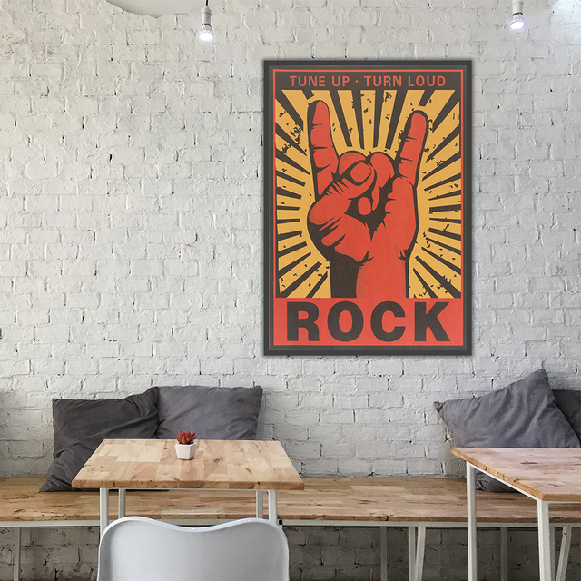 Kraft Paper Poster Of Retro Rock Band Logo Home Decor Bar Music Decoration Painting Creative Personality