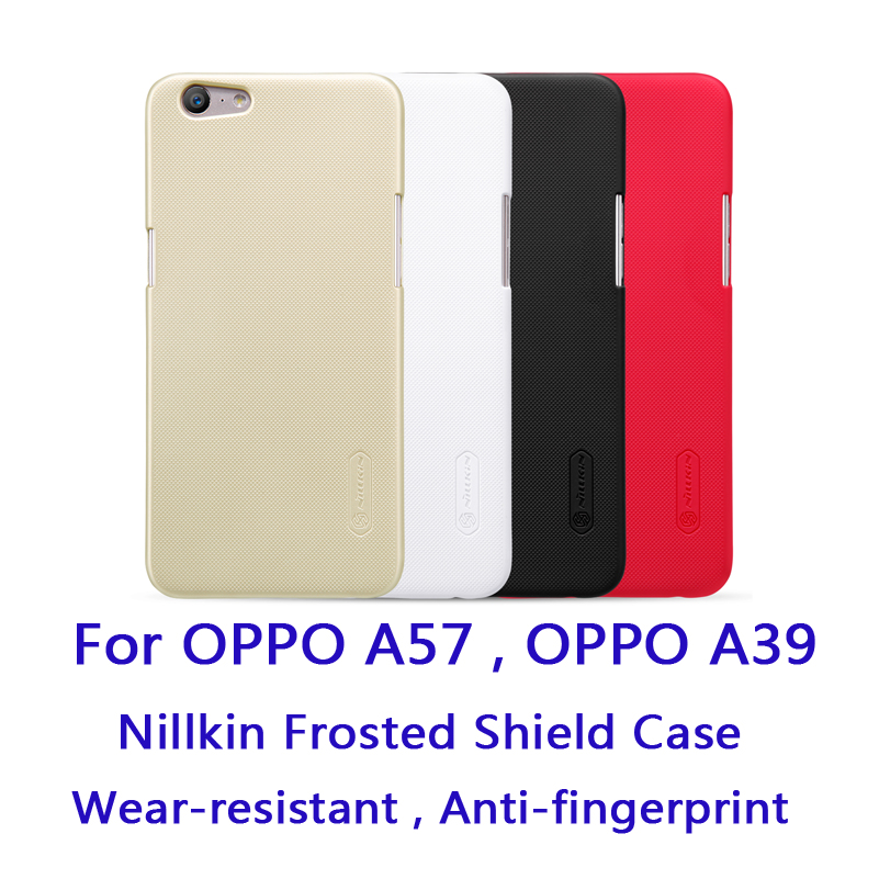 For OPPO A39 OPPO A57 Frosted Shield Case Nillkin Frosted Shield case hard Back cover protective case Anti-fingerprint case