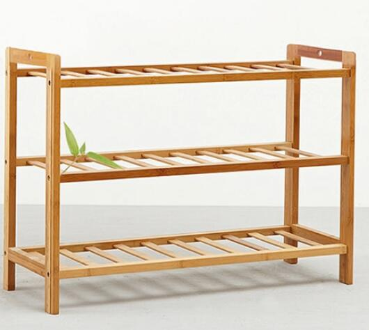 Трехслойная бамбуковая деревянная полка для обуви, домашняя модная полка для обуви, креативный держатель для хранения обуви
