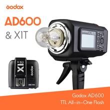 Godox TTL AD600 All-in-One Flash speedlite para Bowen bateria De Lítio ou Godox KIT de Montagem + X1T Gatilho para Nikon/Canhão/Sony