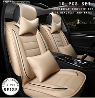 For Benz Mercedes W203 W204 W211 ML Red Brown Brand Designer Luxury Pu Leather Front Rear