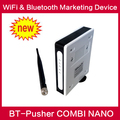 Free digital proximity promotion wifi equipment bluetooth close marketing device BT-Pusher COMBI NANO with battery,Car charger
