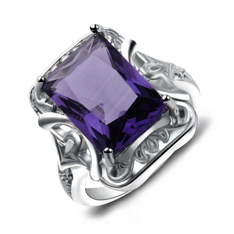 8 สไตล์ชายหญิงใหญ่สีม่วงแหวนแฟชั่นแหวน VINTAGE สำหรับบุรุษและสตรีเครื่องประดับวาเลนไทน์ของขวัญวัน