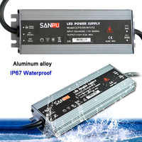 LED ultra-mince bande étanche alimentation IP67 45 W/60 W/100 W/120 W/150 W/200 W/250 W/300 W/175 W transformateur 240 V ~ V à DC12V 24 V