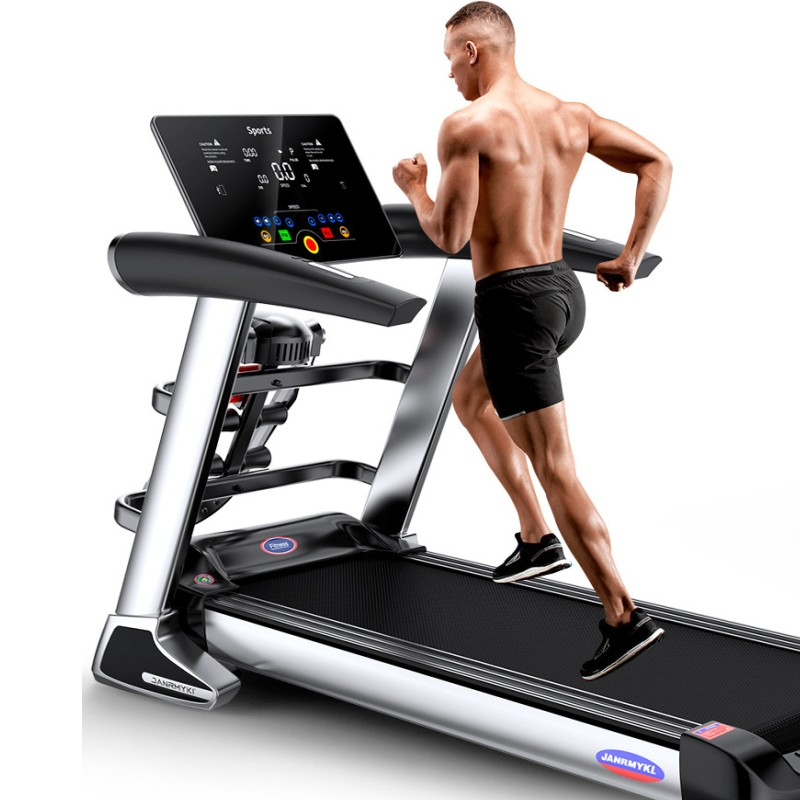 HD LCD Color Screen Electric Treadmill Bluetooth Multifunctional Exercise Training Indoor Sports For Folding House Treadmills
