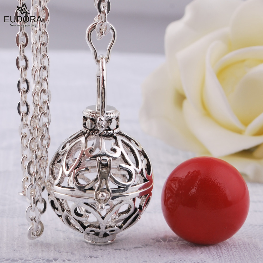 Mariana Guardian Angel Jewelry Mexican Bola Pendant Eudora Harmony Ball Chain Necklace Make Soothing Sound For Pregancy Women