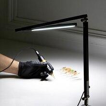 Ez pro tatuagem luz led lâmpada de mesa ajustável leve tatuagem lâmpada para tatuagem & permanente maquiagem artista