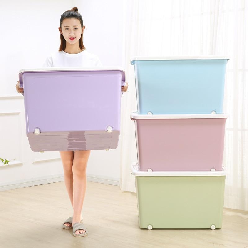 Très grande boîte de rangement de vêtements épais couette en plastique jouets tiroir organisateur boîte de rangement conteneur domestique panier de rangement bacs