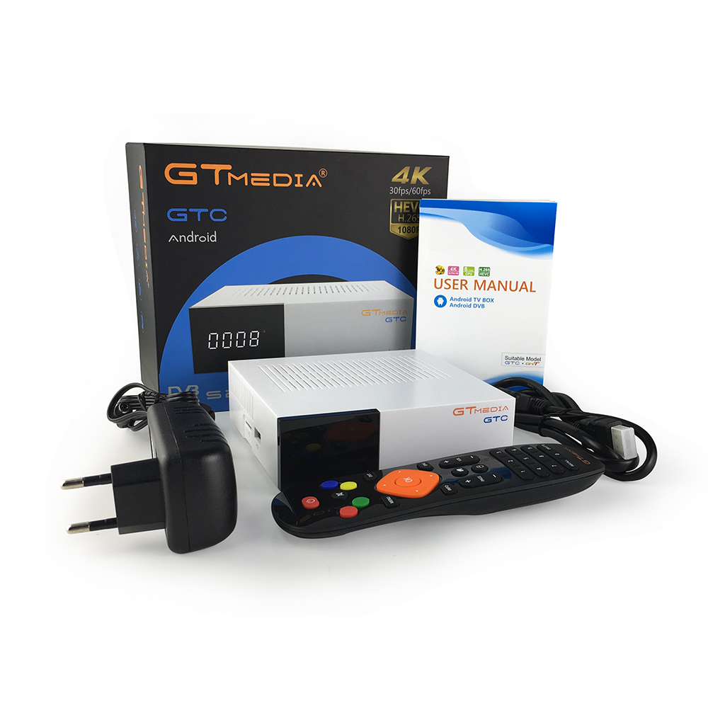 GTmedia GTC Récepteur Android 6.0 BOÎTE de télévision DVB-S2 DVB-C DVB-T2 Amlogic S905D 2GB 16GB + 1 An cccam Récepteur de TÉLÉVISION Par Satellite TV BOX - 6
