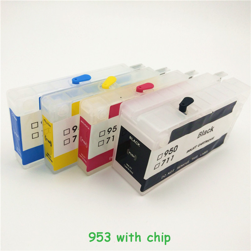 vilaxh 953xl Refillable Ink Cartridge Replacement For <font><b>HP</b></font> 953xl <font><b>953</b></font> XL Officejet Pro 8730 8740 8735 8715 8720 With ARC Chip image