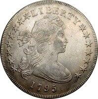 United States Of America 1 Đô La Khoác Bust Dollar đại bàng nhỏ 90% Bạc 1795 Chất Lượng Cao Chỉ Có Một