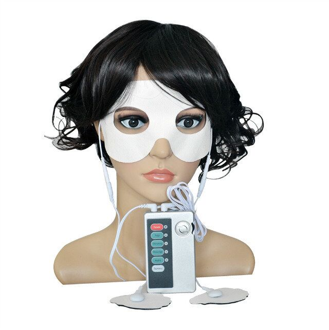 New Low Frequency Massager Tens Digital Therapy Machine Muscle Stimulator With Electrode Conductive Eye Mask Beauty Device new dual tens machine digital low frequency therapeutic electrical muscle stimulator tens stimulator with lcd backlight screen