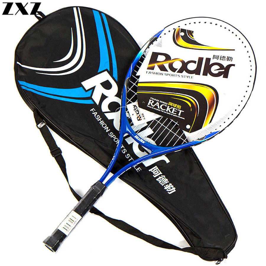 Tennis Racket Paddle Carbon Fiber Raqueta Tenis Professional Technical Lightweight Beginner Training Head Tennis Racquets + Bag