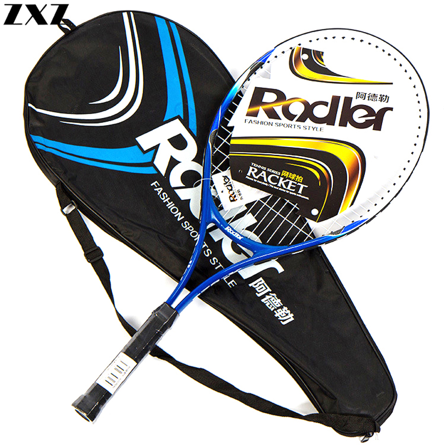 Tennis Racket Paddle Carbon Fiber Raqueta Tenis Professional Technical Lightweight Beginner Training Head Tennis Racquets + Bag