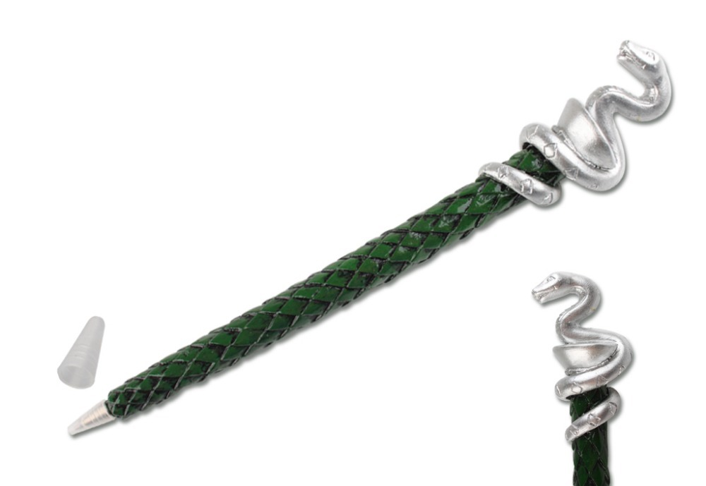 harry potter slytherin magic wand pen hogwarts collectible ballpoint