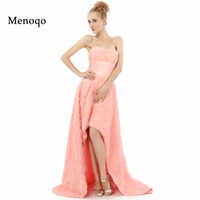 Abendkleider 2015 A Line Strapless Short Front Long Back Formal Gowns Real Sample Prom Dresses Pretty