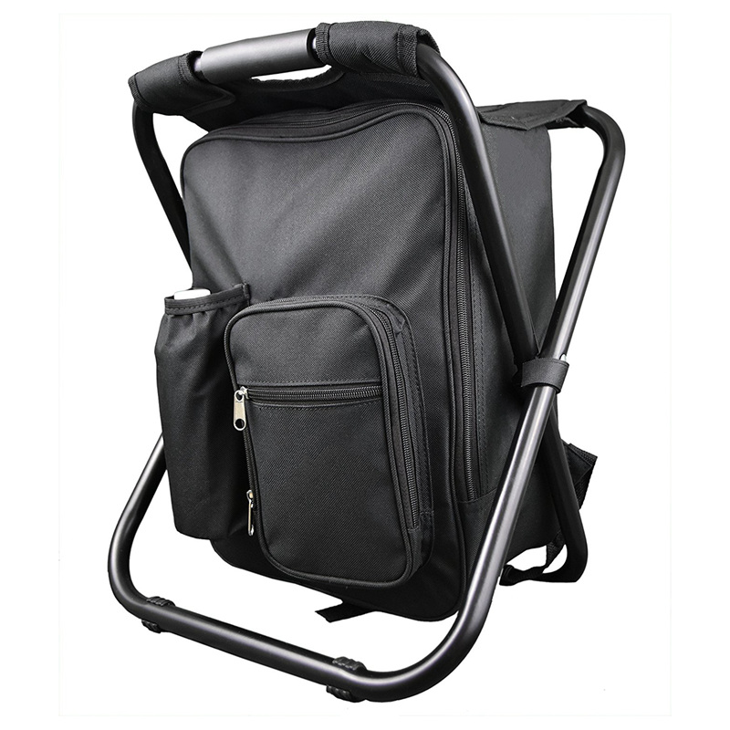 Backpack-Chair Foldable With Double-Layer Oxford-Fabric Cooler-Bag Fishing Camping-House
