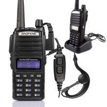 New 2pcs/lot Baofeng UV-82 Walkie Talkie Dual Band UHF/VHF Two-Way Radio transceiver 136-174/400-520 MHz